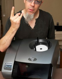 Jordan Rudess with Microboards G3 Disc Publisher
