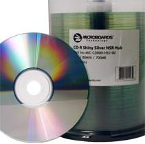 microboards shiny silver lacquer hub printable cd-r